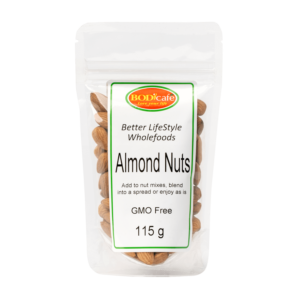 Almond Nuts 115g | Nuts and Seeds | BodiCafe