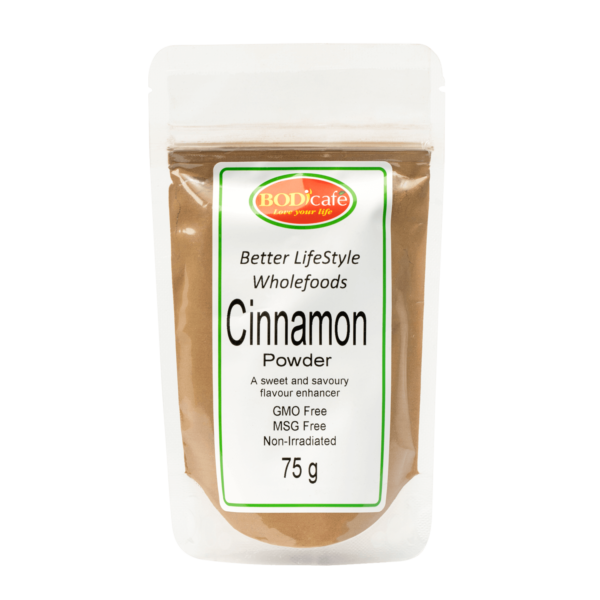 Cinnamon Powder 75g | Cinnamon (R16.33) adds a sweet gritty flavour to baked goods. Cinnamon can also be used to flavour oats and other porridges. Cinnamon health benefits: Contains antioxidants, Considered a natural 'super-food', Assists with regulating cholesterol levels and Assists with digestion.