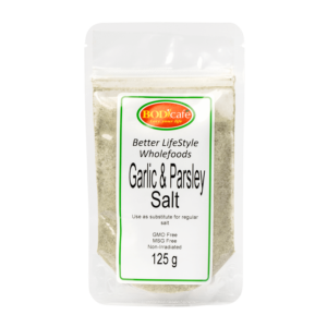 Garlic & Parsley Salt 125g | Seasonings | Bodicafe