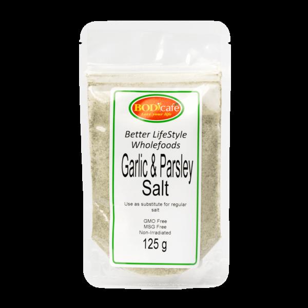 Garlic & Parsley Salt 125g   Seasonings   Bodicafe
