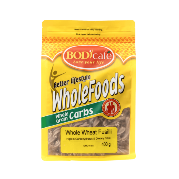 Fusilli (Whole Wheat) 400g | Wholegrains | Bodicafe