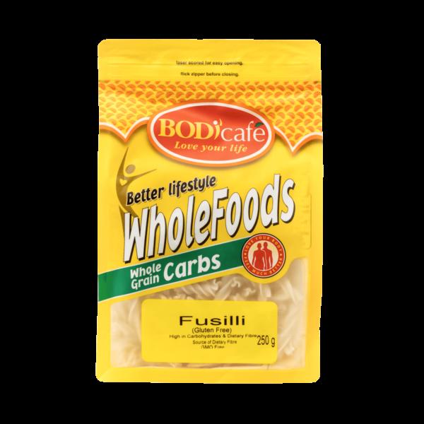 Fusilli (Gluten Free) 250g   WholeGrain Carbs   Bodicafe