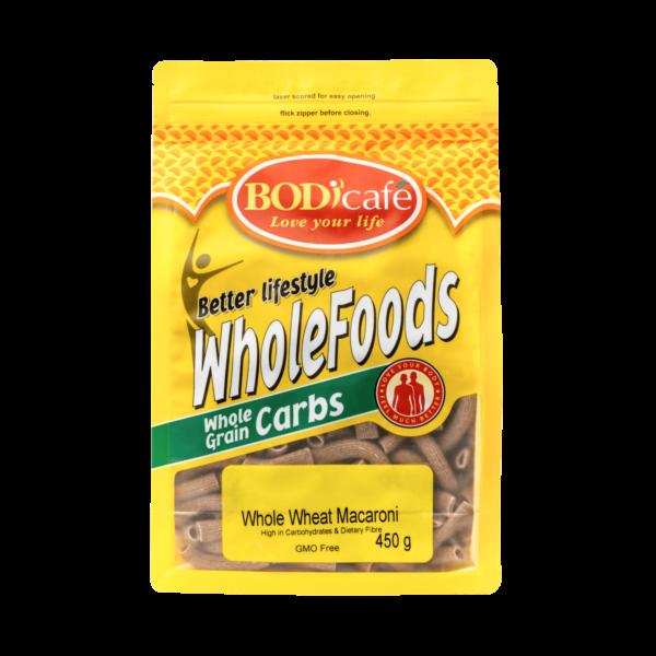 Macaroni (Whole Wheat) 450g | Wholegrains Carbs | Bodicafe